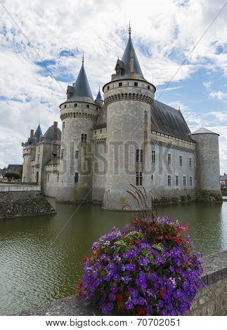 Castle With Flowers Sully Sur Loire