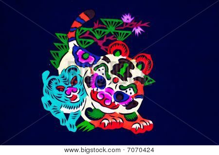 Tiger Chinese folk paper-cut crafts