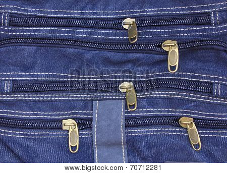 Zippers Of Blue Jean