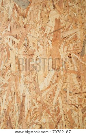 Oriented strand board - OSB. Background and texture poster