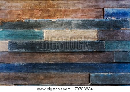 Very old grudged pale Wood panel background
