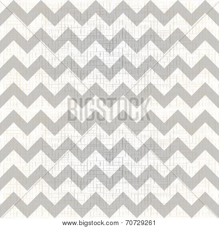 Abstract geometric zigzag seamless pattern in black and white, vector poster