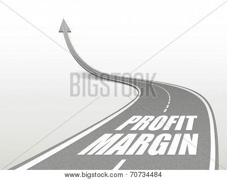 Profit Margin Words On Highway Road