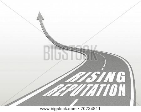 Rising Reputation Words On Highway Road