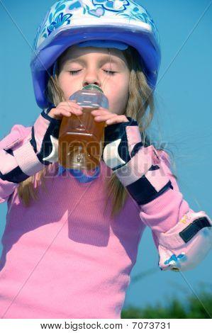 Drinking Sporty Child
