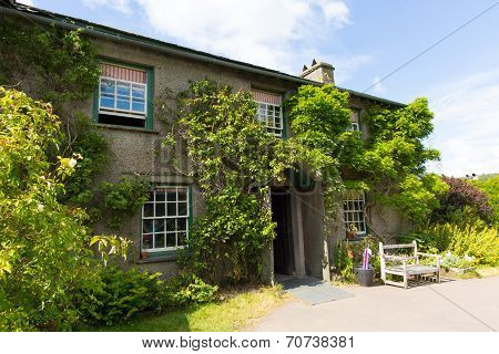 Hill Top House Near Sawrey Lake District former village home to Beatrix Potter