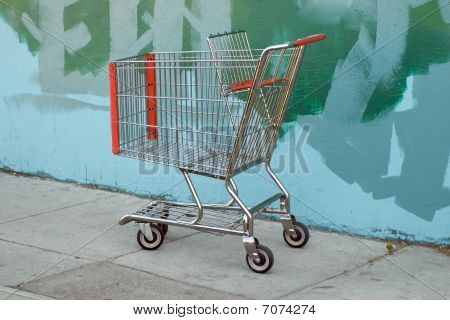 Shopping Cart By Grafitti Wall