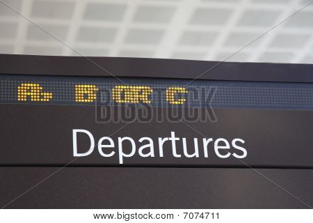 Airport Departures Ticker
