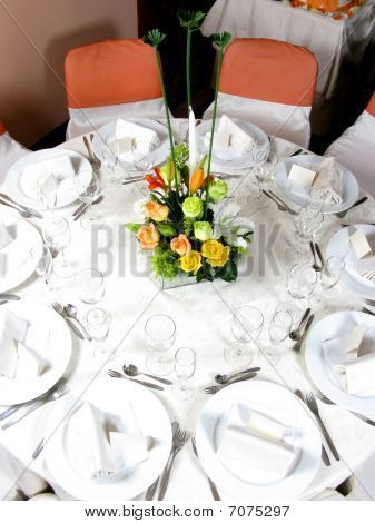 Table Set For A Party Or Function