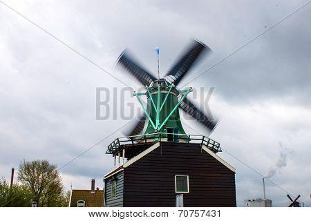 Wind mill near Zaanse Schans