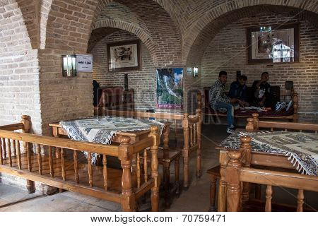 Local Men In A Tearoom In Khorramabad