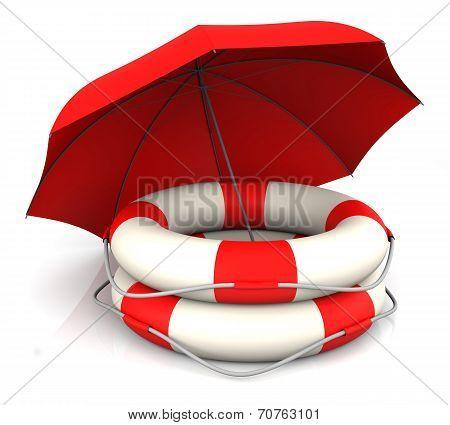 Life Belt And Umbrella