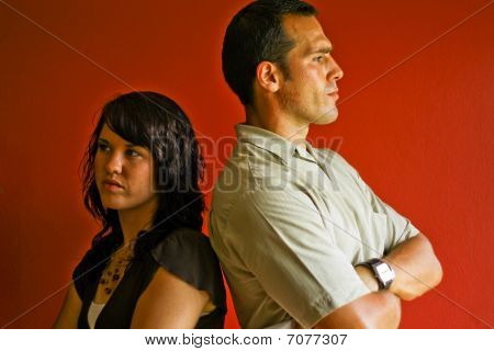 Young Attractive Adult Couple Relationship, Angry, Mad, Fight