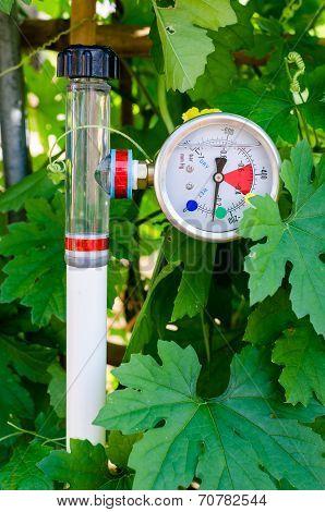 Soil Water Tension (Tensiometers) in vegetable garden poster