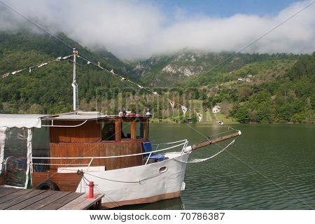 Motor Ship At River Drina