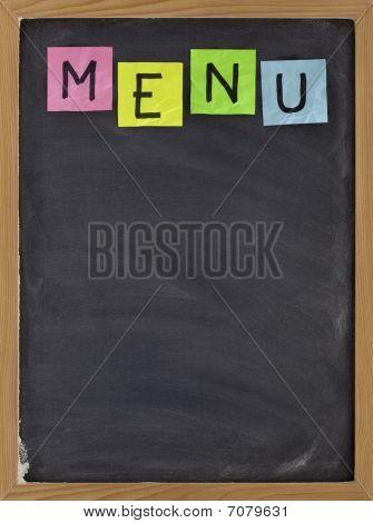 Blank Blackboard Menu