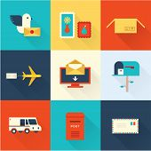 mail vector set flat style design ui poster