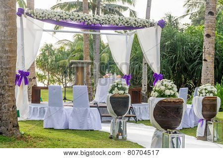 beautiful wedding arch, cabana on beach, outdoor beach wedding