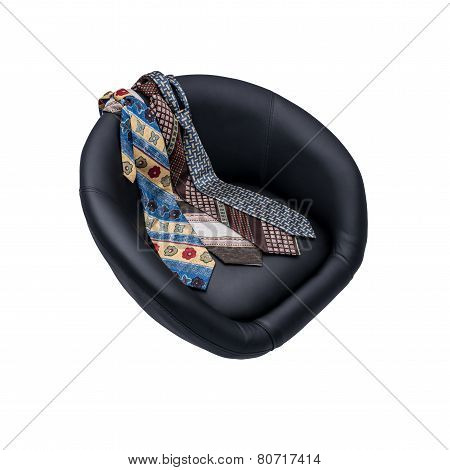 Armchair and tie.