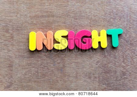 Insight Word In Wood Background