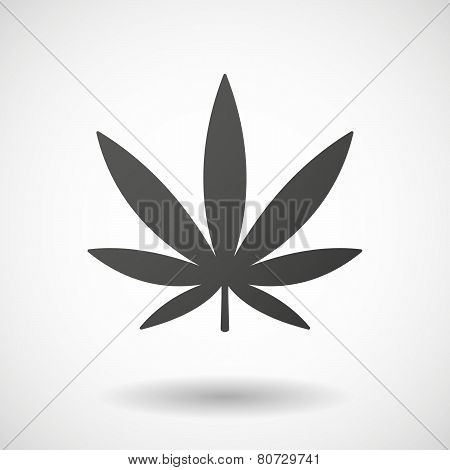 Marijuana Leaf  Icon On White Background
