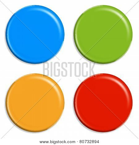 4 Colored Magnets