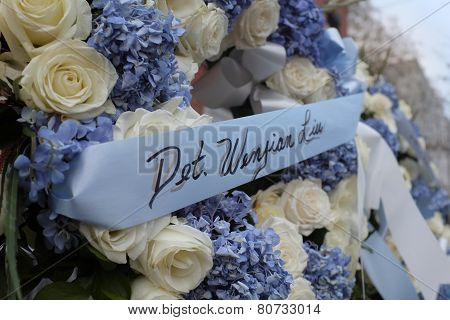 Wreath for Detective Wenjian Liu