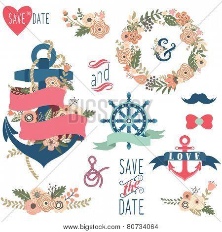 Nautical Flora Wedding Elements