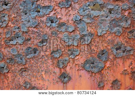 Rough pattern of a rusted metal plate