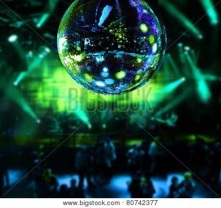 Dancing Under Disco Mirror Ball
