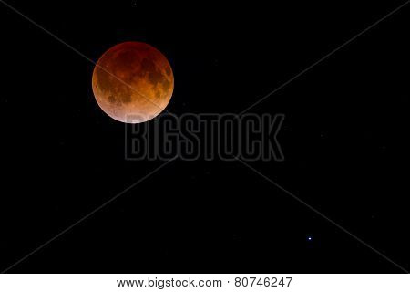 Blood Moon And Stars