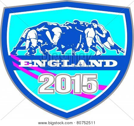 Rugby Scrum England 2015 Shield
