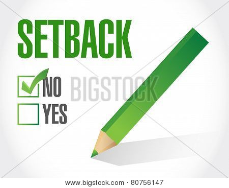 No To A Setback. Check List Illustration Design