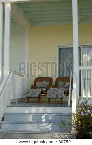 Two Chairs in a Porch of a Keys House