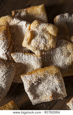 Homemade Powder Sugar Beignets Ready for Breakfast poster