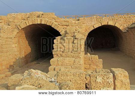 Storage Rooms in Caesarea Maritima National Park