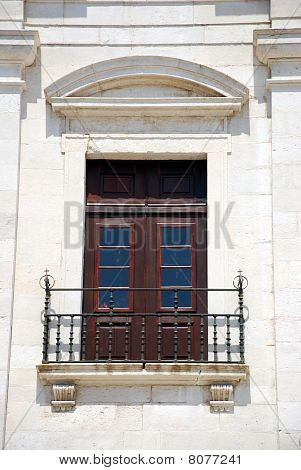 Window Outside The Famous National Pantheon In Lisbon