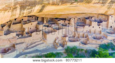 Cliff Palace in Mesa Verde National Park Colorado. poster