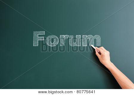 forum written on blackboard
