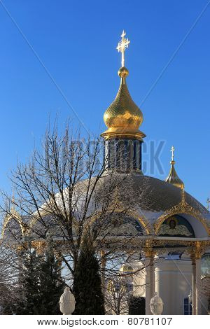 Pochaev's Lavra at nice winter day, Ukraine