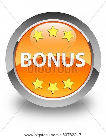 Bonus Glossy Orange Round Button