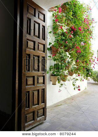 Doorway at the Palacio de Viana in Cordoba, Spain