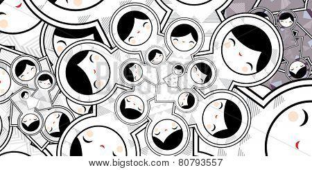 Cute Pattern With Geometric Matryoshka Babushka Dolls
