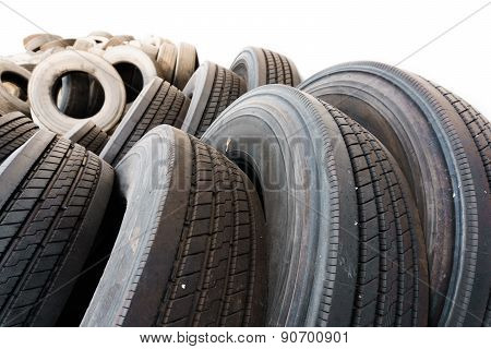 Car Tire Close Up, Used Tires