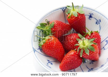 Fresh Strawberries To Be Served As Healthy Snack
