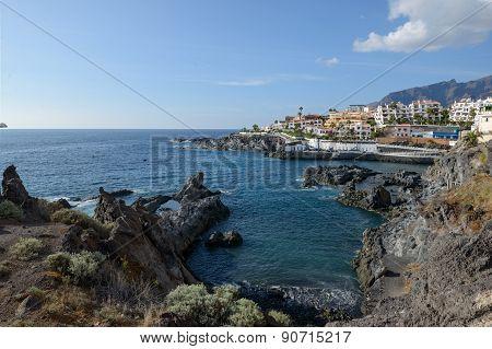 Coast View Towards Puerto De Santiago, Tenerife, Canary Islands, Spain.