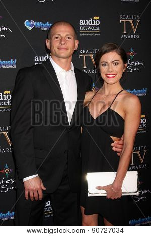 LOS ANGELES - MAY 12:  Brent Steffensen, Kacy Catanzaro at the Children's Justice Campaign Event at the Private Residence on May 12, 2015 in Beverly Hills, CA