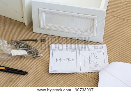 cabinet drawer supplies and assembly instructions