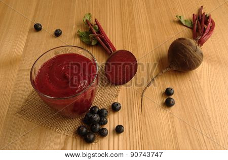 Beetroot (Beet) and Blueberry Smoothie/Juice