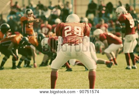 american football game - retro style photograph